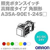 オムロン(OMRON) A3SA-90E1-24SY 形A3S 照光押ボタンスイッチ 超高輝度タイプ (角胴形) (正方形) (黄) NN