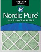 Nordic Pure 18x30x1PureGreen+C-3 AC 炉エアフィルター 18 x 30 x 1インチ ピュアグリーン