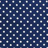 コスモテキスタイル 中ドット 水玉 シャーティング ネイビー 巾約110cm×1.5m切売カット CR8876-206-150CM