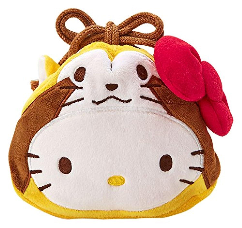 あらいぐまラスカル×ハローキティ フェイス形巾着(キティ)