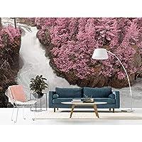 Ansyny 3 Dの壁紙風景写真の壁の壁画森川紙の部屋の寝室の背景壁画の壁紙ロール-130X100CM