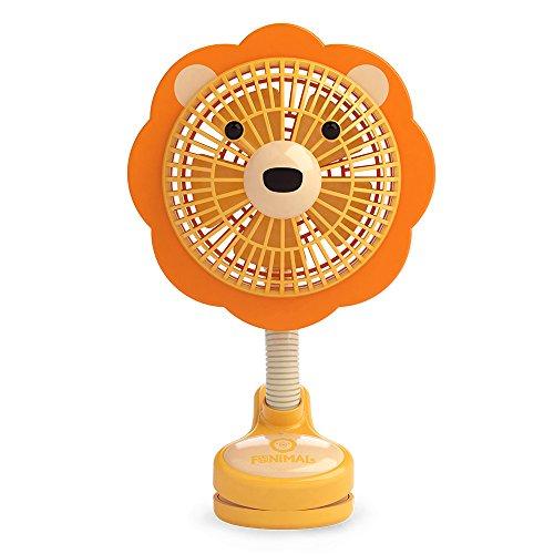 イマージ クリップ扇風機 ライオン ベビーカー クリップ 扇風機 おでかけ 携帯 電池式