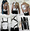 進撃の巨人 ミカサ アッカーマン風 コスプレ衣装 女性Mサイズ 完全オーダメイドも対応可能