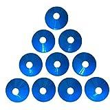 Zakur マーカーコーン カラーコーン 割れにくい サッカー フットサル 用品 (ブルー, 10枚)