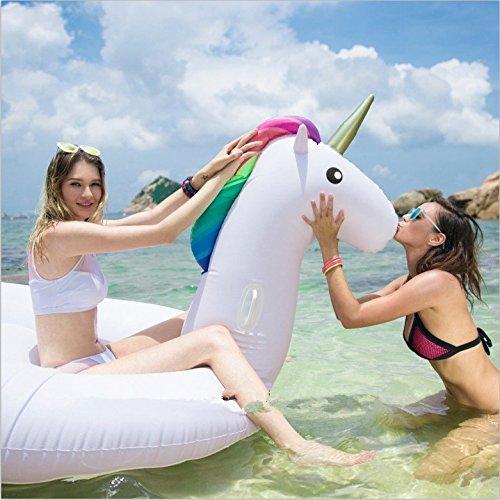 Megi(メギ) ユニコーン 浮き輪 フロート 海 プール 海水浴 リゾート ビーチグッズ ビーチマット ビーチボード ジャンボ 巨大 二人乗り おしゃれ かわいい キュート