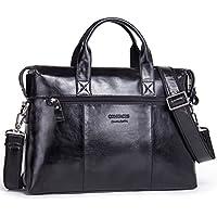 "Contacts Genuine Leather Men's 12"" 14"" Briefcase Shoulder Messenger Laptop Bag"