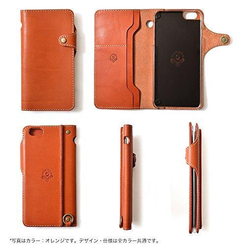『iPhone6s Plus iPhone6 Plus 手帳型 ケース オイルレザー 本革(栃木レザー) (右手持ち, ブラウン)』の5枚目の画像