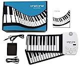 ONETONE ワントーン ロールピアノ 88鍵盤 スピーカー内蔵 充電池駆動 トランスポーズ機能搭載 MIDI対応 OTR-88 (サスティンペダル/日本語マニュアル付属)