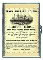 1860ボストンIron出荷建物IDウォレットorシガレットケースアメリカ製