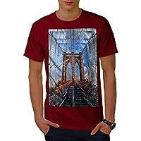 Wellcoda 大都市 シティ NYC 都市 男性用 赤 2XL Tシャツ