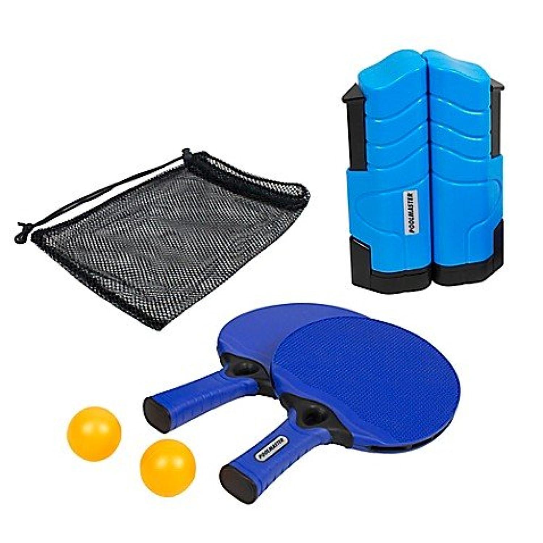 Poolmaster Play N Goインドア/アウトドアポータブルon-the-go Mountingテーブルテニスゲームセットin Brilliant Blue, includes巾着バッグのストレージとtransporting 。