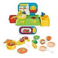 Perfeclan 子供 知育玩具 おままごと ごっこ遊び 調理器具 キッチン調理 食材 野菜 果物 おもちゃセット