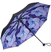 雨傘旅行クイックドライコンパクトポータブル折りたたみ傘ブランド防風防雨紫外線対策ライト重量UPF 50+ for Rain/Sun ブラック
