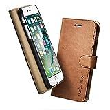【Spigen】iPhone7 ケース, [ カード収納付き] [ スタンド機能 ] [ レザー 手帳型 携帯カバー ] ウォレットS 手帳ケース、アイフォン 7 用 カバー ( iPhone7, ブラウン)