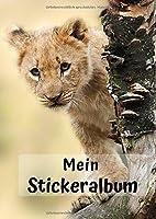 Mein Stickeralbum: Motiv Loewe No. 5 | 30 Seiten | DIN A4 | Blanko | Kein Silikonpapier | Geschenkidee