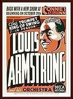ポスター ルイ アームストロング ルイ アームストロング - Connie\'s Inn NYC、 1935 - 額装品 ウッドベーシックフレーム(ブラウン)