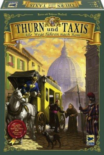 郵便馬車拡張セットII -すべての道はローマに通ず- (Thurn und Taxis: Alle Wege führen nach Rom) Nur mit 'Thurn und Taxis' spielbar. Für 2 - 4 Spieler ボードゲーム