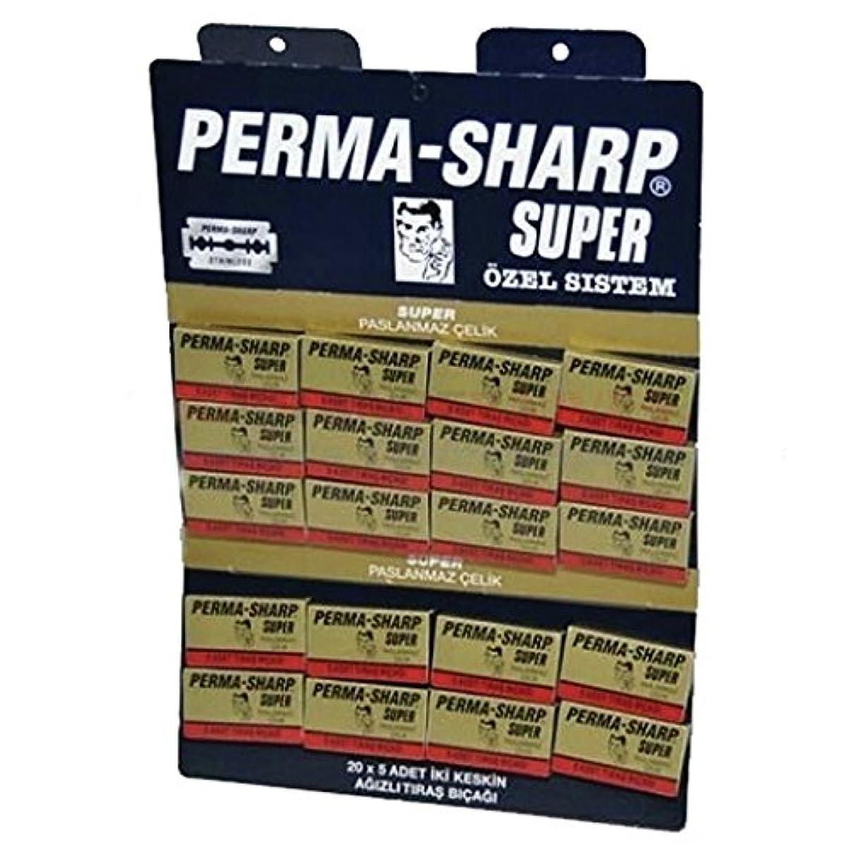 損失写真を描くみなさんPermasharpスーパーダブルエッジかみそりの刃 - 100ブレードのパック