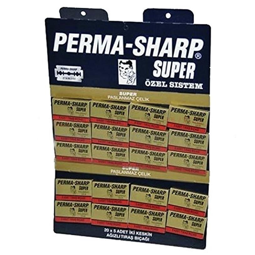 パイルペチュランス適度にPermasharpスーパーダブルエッジかみそりの刃 - 100ブレードのパック