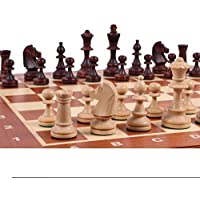Brown Consul Handcrafted Tournament Wooden Chess Board 19'' X 19