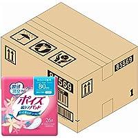 【ケース販売】 ポイズ 肌ケアパッド 安心の中量用(ライト)80cc 26枚 ×6パック入り (女性の軽い尿もれ用)