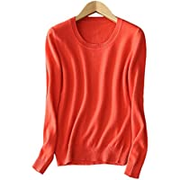 Ladies Womens 100% Cashmere Jumper Sweater 100% Pashmina Jumper O Neck Hot Cosy Watermelon Red XL