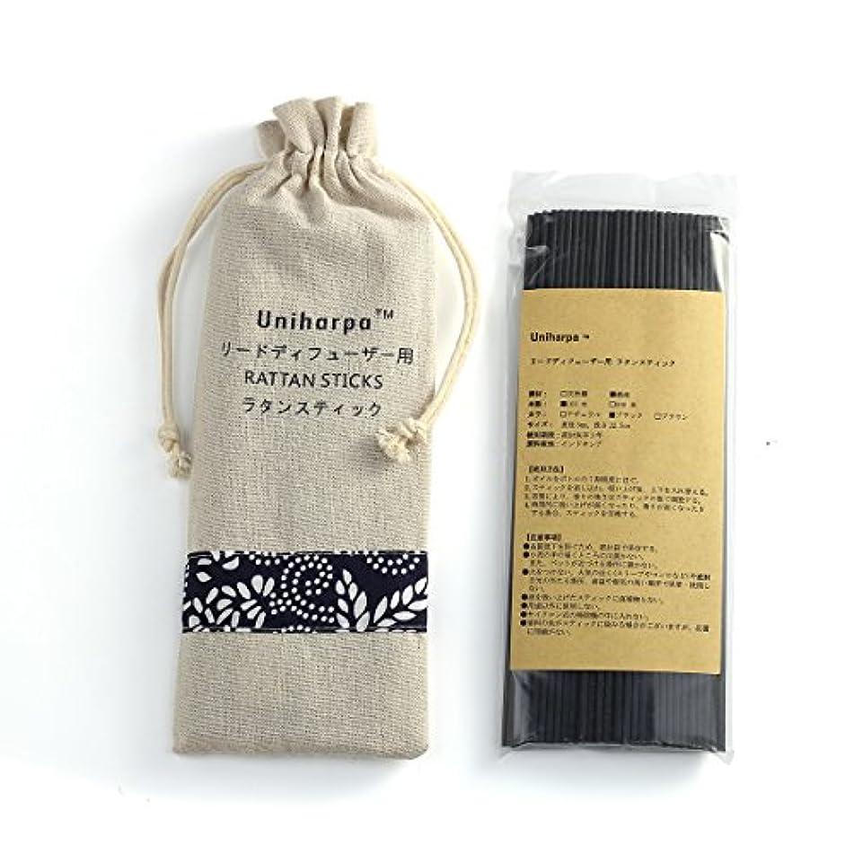 フェロー諸島スティックハブリードディフューザー用 ラタンスティック/リードスティック リフィル 繊維素材 22.5cm 直径3mm 100本入 乾燥剤入り オリジナル旅行専用袋付 (ブラック)