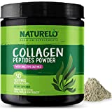 NATURELO Collagen Peptides Powder - Best Supplement for Skin, Hair & Joint Health - Organic Spirulina - 14 Amino Acids - Grass Fed - Hydrolyzed - Digestive Enzymes for Better Absorption - 30 Servings