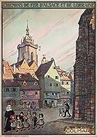Colmar–Chemins de Fer D 'alsace et de Lorraineヴィンテージポスター(アーティスト: Hansi )フランスC。1921 9 x 12 Art Print LANT-58744-9x12