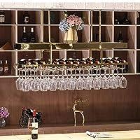 XixuanStore 居間のワインラック、レストランのワインラック、装飾的なワインラック、ワインラック赤のステンレス鋼の掛かるバー逆さまにハンガー任意のスペース (Color : 80cm*35cm)