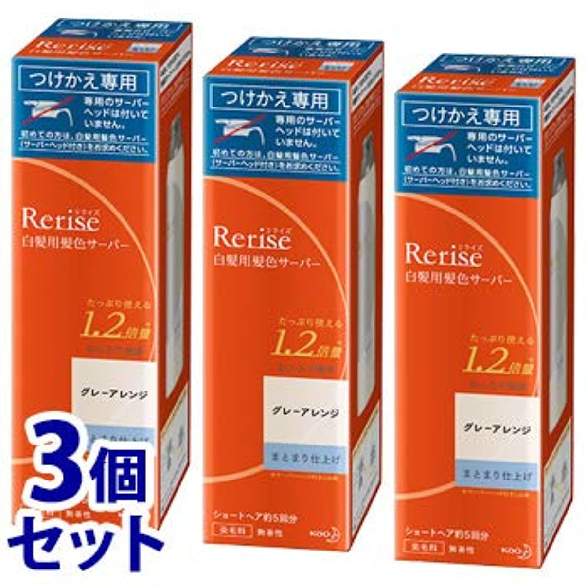 既にモンキー年齢《セット販売》 花王 リライズ 白髪用髪色サーバー グレーアレンジ まとまり仕上げ つけかえ用 (190g)×3個セット 付け替え用 染毛料
