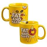 The Simpsons(シンプソンズ) 20ozマグカップ FAT AND HAPPY Vandor7052【ホーマー Homer グッズ 雑貨 輸入 インポート】