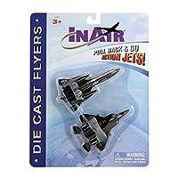 InAir 10cm Pullbacks - SR-71 Blackbird & F-22 Raptor, 2-pack