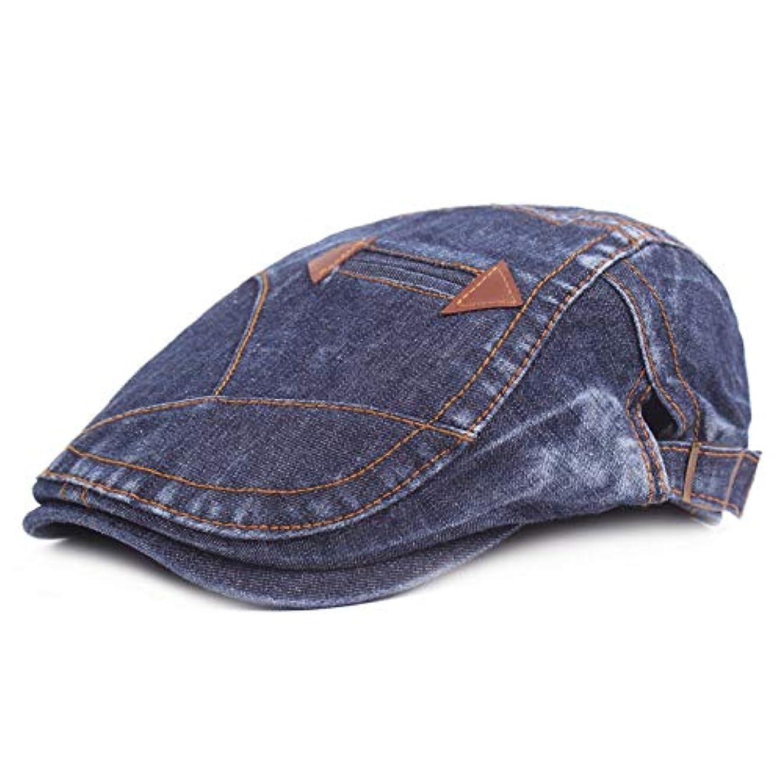 月傷つける判定ベレー帽 ユニセックス おしゃれ 綿 ハンチング帽子 紫外線対策調節可能 日よけ 帽子