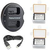 Newmowa NP-FW50 互換バッテリー 2個+充電器 は NP-FW50 Alpha a5000 a5100 Alpha a6000 a6300 Alpha 7 a7 7R a7R a7RM2 7S a7S aNEX-5 aNEX-5N aNEX-5R NEX-5 ILCE-QX1