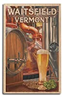 Waitsfield、バーモント州–The Art of Beer 10 x 15 Wood Sign LANT-50267-10x15W