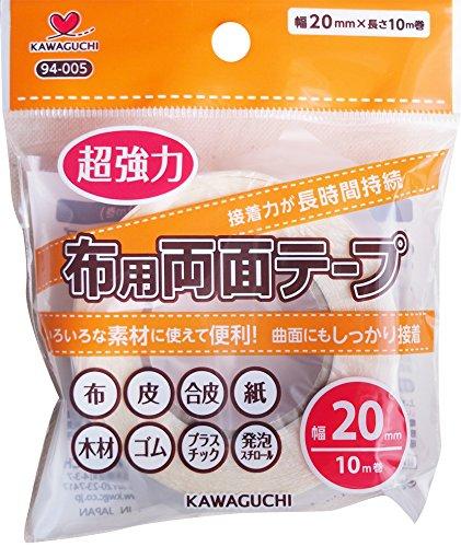 「KAWAGUCHI」 超強力 布用 両面テープ 透明
