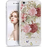 f697a1ff09 Imikoko iphone6 case ケース iphone6sケース cover かわいい 花柄 美しい花 お洒落 金箔パウダー ストラップ