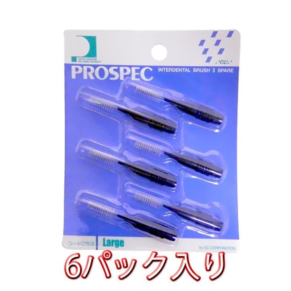 バイパスタイルキャッチプロスペック 歯間ブラシ 2スペアー ブラシのみ6本入 × 6パック L ブルー
