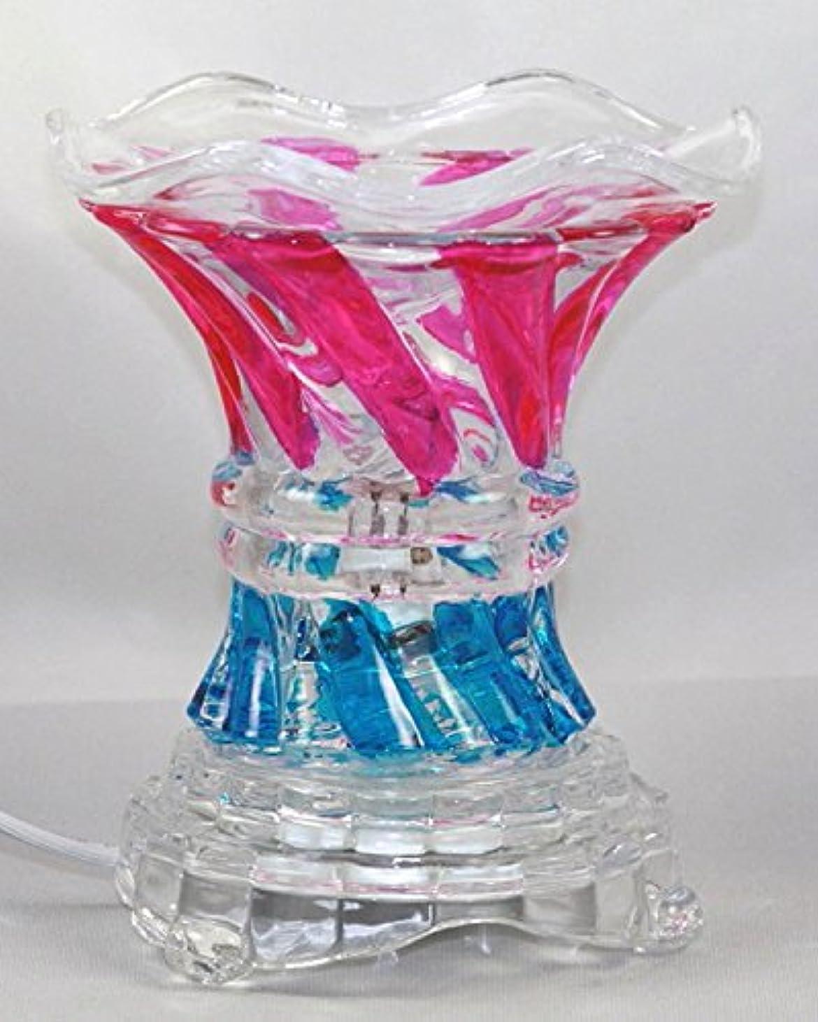 推論サイクロプス悪意のあるマルチカラー( es237 ) ElectricガラスフレグランスScented Oil Warmer ( Burner / Warmer /ランプ) withディマースイッチピンクブルー