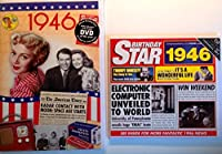 1946 Birthday Gifts Pack - 1946 DVD Film , 1946 Chart Hits CD and 1946 Birthday Card