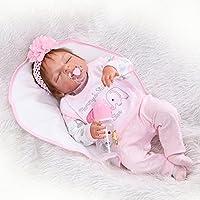 decdeal Reborn Baby Doll Baby Bath ToyフルシリコンボディEyes Close 22インチ55 cm