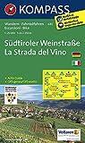 Suedtiroler Weinstrasse - La Strada del Vino 1 : 25 000: Wanderkarte mit Aktiv Guide und Radrouten. GPS-genau. Dt. /Ital
