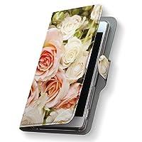 Xperia Z3 SO-01G ケース カバー 手帳型 スマコレ レザー 革 so-01g スマホケース スマホカバー エクスペリア 写真・風景 フラワー 004742 Sony ソニー docomo ドコモ 花 ピンク 白 写真 d-so01g-004742-nb