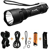 ThorFire C8s Flashlight 900 Lumens Most Powerful XML2 Led Flashlight With Rechargeable 18650 Battery, USB Charger , Bike Light Mount For Cycling Camping Hiking Emergency