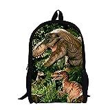 学校のキャンプ旅行のために色とりどりのデイパックバックパックスクールバッグ - 漫画ポリエステル3dプリントバックパック - サイズ:17x11x5inch