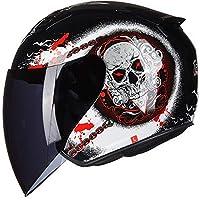 Enjoyment タンクヘルメットオートバイヘルメット電気自動車防曇ハーフヘルメット四季ハーフカバーパーソナリティファッションヘルメット Luxury (色 : Black, Size : M)