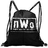 ニュー・ワールド・オーダー NWO New World Order ナップサック キャンディーバッグ 巾着袋 収納バッグ リュックサック プリント 人気 オシャレ 軽量 便利 多目的リ メンズ レディース