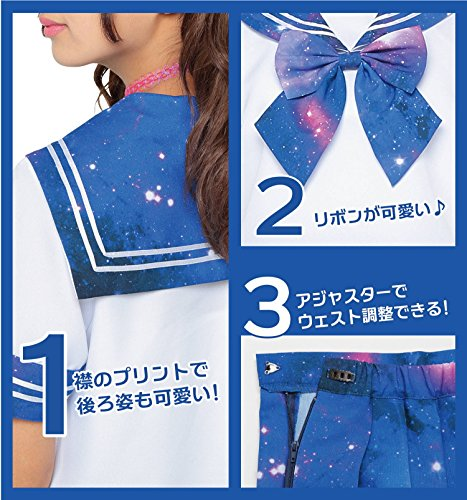 Neon graphics sailor outfit galaxy costume Blue Ladies 155 cm-165 cm