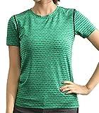 [ジェームズ・スクエア] レディース ドライ ストレッチ Tシャツ スポーツ トレーニング シャツ 半袖